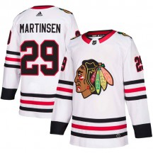 Andreas Martinsen Chicago Blackhawks Adidas Youth Authentic Away Jersey - White