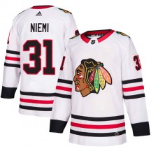 Antti Niemi Chicago Blackhawks Adidas Youth Authentic Away Jersey - White