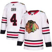 Bobby Orr Chicago Blackhawks Adidas Youth Authentic Away Jersey - White