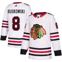 Terry Ruskowski Chicago Blackhawks Adidas Youth Authentic Away Jersey - White