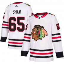 Andrew Shaw Chicago Blackhawks Adidas Youth Authentic Away Jersey - White