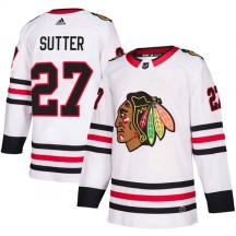 Darryl Sutter Chicago Blackhawks Adidas Youth Authentic Away Jersey - White