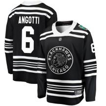 Lou Angotti Chicago Blackhawks Fanatics Branded Men's 2019 Winter Classic Breakaway Jersey - Black