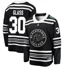 Jeff Glass Chicago Blackhawks Fanatics Branded Men's 2019 Winter Classic Breakaway Jersey - Black