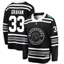 Dirk Graham Chicago Blackhawks Fanatics Branded Men's 2019 Winter Classic Breakaway Jersey - Black