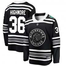 Matthew Highmore Chicago Blackhawks Fanatics Branded Men's 2019 Winter Classic Breakaway Jersey - Black