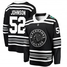 Reese Johnson Chicago Blackhawks Fanatics Branded Men's 2019 Winter Classic Breakaway Jersey - Black