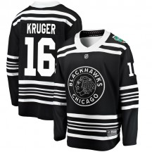 Marcus Kruger Chicago Blackhawks Fanatics Branded Men's 2019 Winter Classic Breakaway Jersey - Black