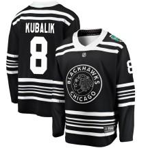 Dominik Kubalik Chicago Blackhawks Fanatics Branded Men's 2019 Winter Classic Breakaway Jersey - Black