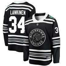 Kevin Lankinen Chicago Blackhawks Fanatics Branded Men's 2019 Winter Classic Breakaway Jersey - Black