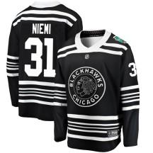 Antti Niemi Chicago Blackhawks Fanatics Branded Men's 2019 Winter Classic Breakaway Jersey - Black