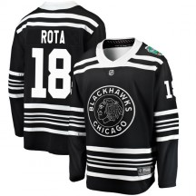 Darcy Rota Chicago Blackhawks Fanatics Branded Men's 2019 Winter Classic Breakaway Jersey - Black