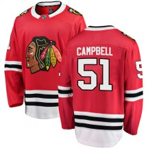 Brian Campbell Chicago Blackhawks Fanatics Branded Youth Breakaway Home Jersey - Red