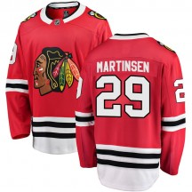 Andreas Martinsen Chicago Blackhawks Fanatics Branded Youth Breakaway Home Jersey - Red