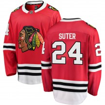 Pius Suter Chicago Blackhawks Fanatics Branded Youth Breakaway Home Jersey - Red