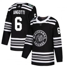Lou Angotti Chicago Blackhawks Adidas Men's Authentic 2019 Winter Classic Jersey - Black