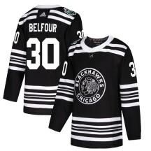 ED Belfour Chicago Blackhawks Adidas Men's Authentic 2019 Winter Classic Jersey - Black