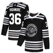 Matthew Highmore Chicago Blackhawks Adidas Men's Authentic 2019 Winter Classic Jersey - Black