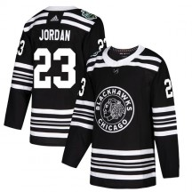 Michael Jordan Chicago Blackhawks Adidas Men's Authentic 2019 Winter Classic Jersey - Black