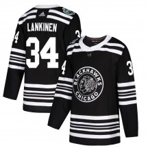 Kevin Lankinen Chicago Blackhawks Adidas Men's Authentic 2019 Winter Classic Jersey - Black