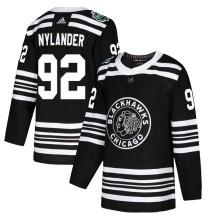 Alexander Nylander Chicago Blackhawks Adidas Men's Authentic 2019 Winter Classic Jersey - Black