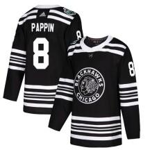 Jim Pappin Chicago Blackhawks Adidas Men's Authentic 2019 Winter Classic Jersey - Black