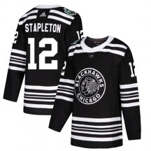 Pat Stapleton Chicago Blackhawks Adidas Men's Authentic 2019 Winter Classic Jersey - Black