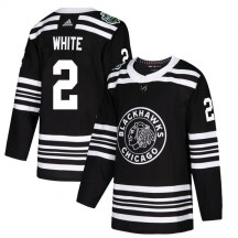 Bill White Chicago Blackhawks Adidas Men's Authentic Black 2019 Winter Classic Jersey - White