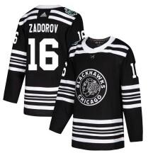 Nikita Zadorov Chicago Blackhawks Adidas Men's Authentic 2019 Winter Classic Jersey - Black