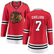 Chris Chelios Chicago Blackhawks Fanatics Branded Women's Home Breakaway Jersey - Red