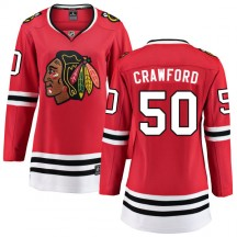 Corey Crawford Chicago Blackhawks Fanatics Branded Women's Home Breakaway Jersey - Red