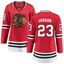 Michael Jordan Chicago Blackhawks Fanatics Branded Women's Home Breakaway Jersey - Red