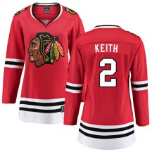 Duncan Keith Chicago Blackhawks Fanatics Branded Women's Home Breakaway Jersey - Red