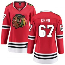 Tanner Kero Chicago Blackhawks Fanatics Branded Women's Home Breakaway Jersey - Red