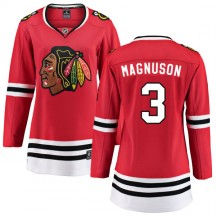 Keith Magnuson Chicago Blackhawks Fanatics Branded Women's Home Breakaway Jersey - Red