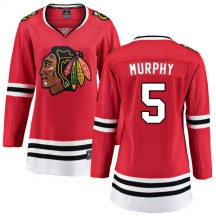 Connor Murphy Chicago Blackhawks Fanatics Branded Women's Home Breakaway Jersey - Red
