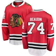 Nicolas Beaudin Chicago Blackhawks Fanatics Branded Men's ized Breakaway Home Jersey - Red