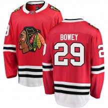 Madison Bowey Chicago Blackhawks Fanatics Branded Men's Breakaway Home Jersey - Red