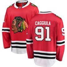 Drake Caggiula Chicago Blackhawks Fanatics Branded Men's Breakaway Home Jersey - Red