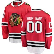Custom Chicago Blackhawks Fanatics Branded Men's Breakaway Home Jersey - Red