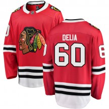 Collin Delia Chicago Blackhawks Fanatics Branded Men's Breakaway Home Jersey - Red
