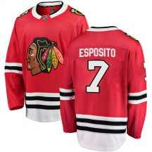 Phil Esposito Chicago Blackhawks Fanatics Branded Men's Breakaway Home Jersey - Red