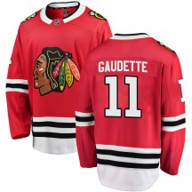 Adam Gaudette Chicago Blackhawks Fanatics Branded Men's Breakaway Home Jersey - Red