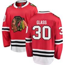 Jeff Glass Chicago Blackhawks Fanatics Branded Men's Breakaway Home Jersey - Red