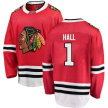 Glenn Hall Chicago Blackhawks Fanatics Branded Men's Breakaway Home Jersey - Red