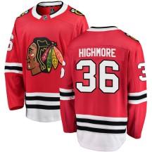 Matthew Highmore Chicago Blackhawks Fanatics Branded Men's Breakaway Home Jersey - Red