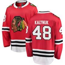 Wyatt Kalynuk Chicago Blackhawks Fanatics Branded Men's Breakaway Home Jersey - Red