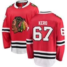 Tanner Kero Chicago Blackhawks Fanatics Branded Men's Breakaway Home Jersey - Red