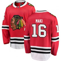 Chico Maki Chicago Blackhawks Fanatics Branded Men's Breakaway Home Jersey - Red