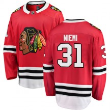 Antti Niemi Chicago Blackhawks Fanatics Branded Men's Breakaway Home Jersey - Red